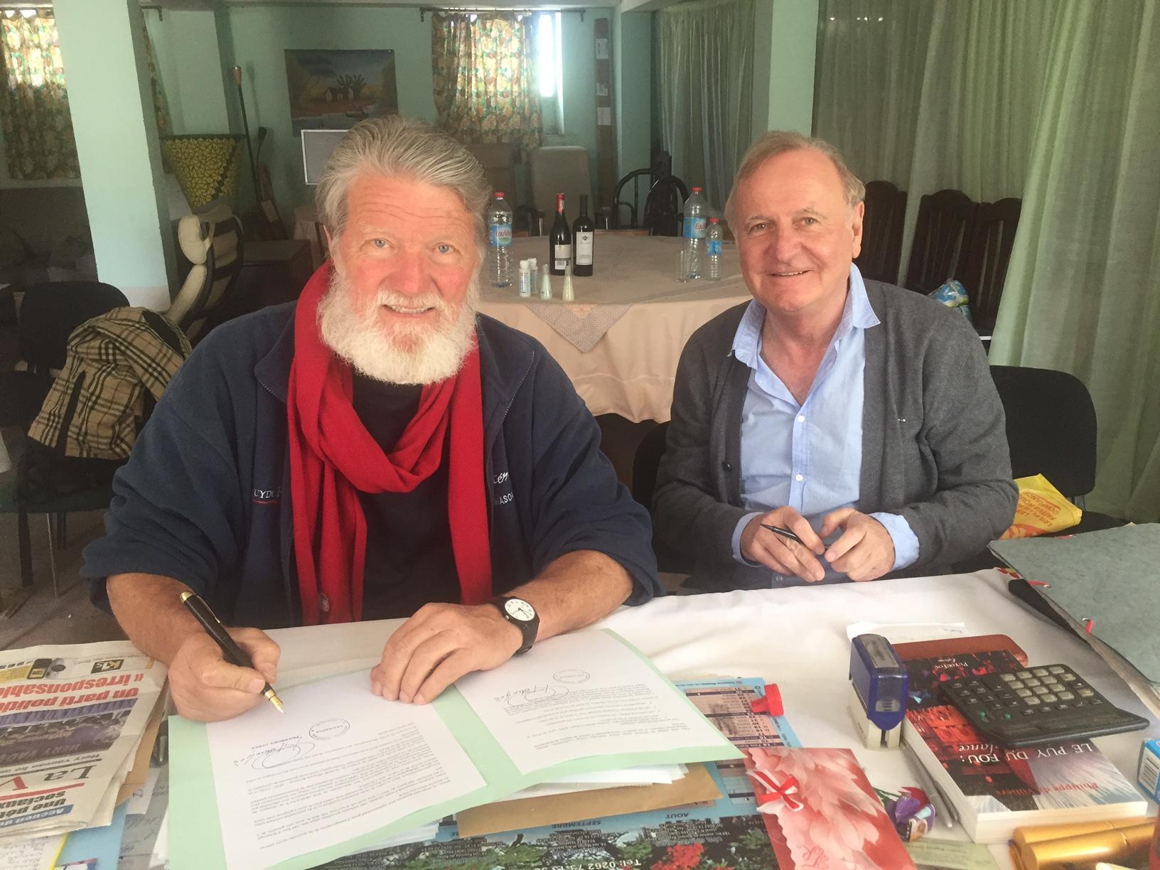 SOLARPLEXUS draft agreement in Antolojanahary (Alain ORRIOLS; Père Pedro)